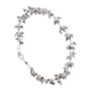 Filao Bracelet Argent Massif Perles Labradorite