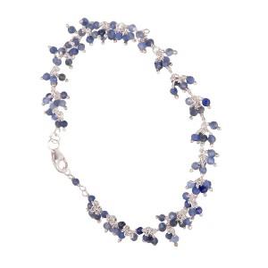 Filao Bracelet Argent Massif Perles Sodalite