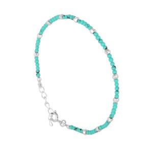Filao Bracelet Argent Massif Perles Turquoise