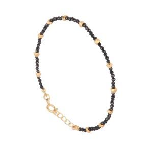 Bracelet Argent Filao Doré Or Fin Spinelle