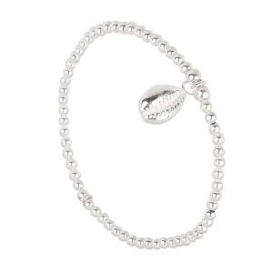 Bracelet Perles Argent Massif 925 Coquillage Filao