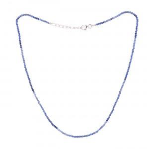 Filao Collier Argent Massif Perles Sodalite