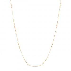 filao longue chaine dorée à l'or fin 24 carats perles Coquillage