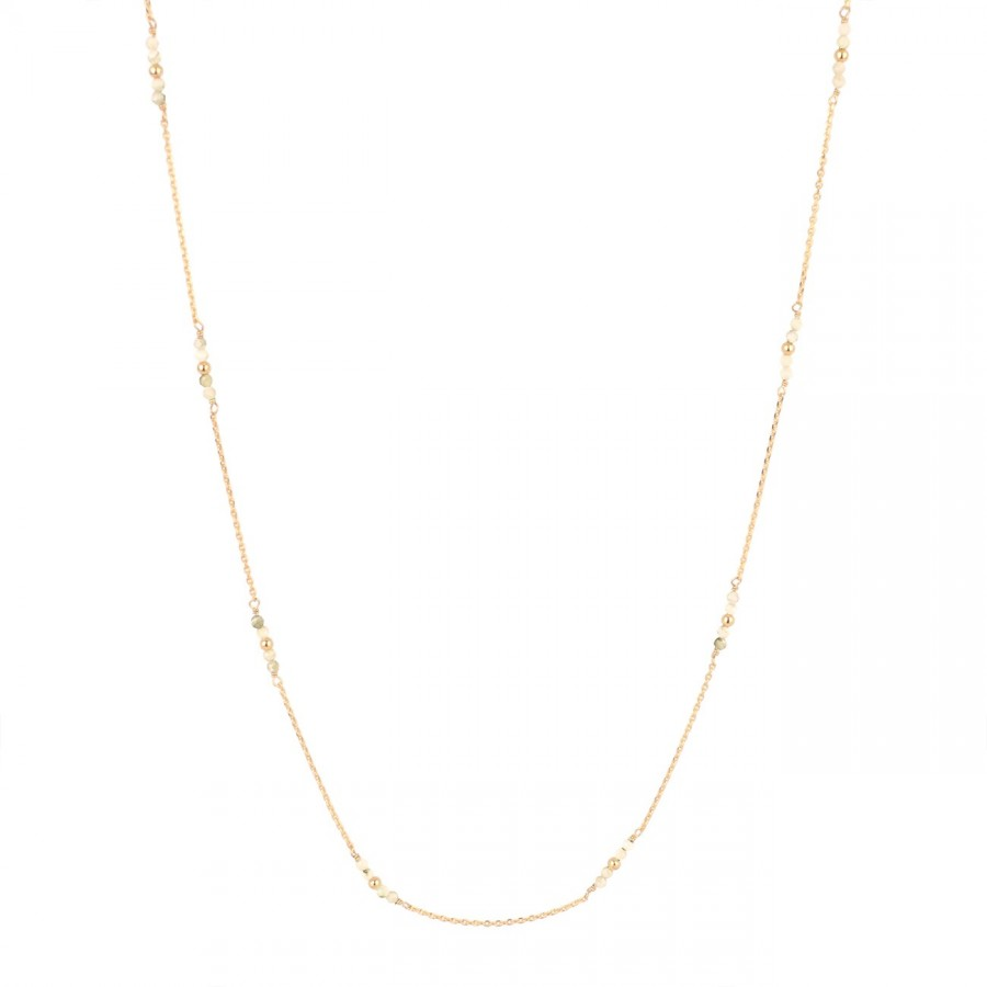 Collier coquillage fin dor\u00e9 \u00e0 l/'or fin 24 carats et pierres naturelles  Collection Madrague \u00e9toile