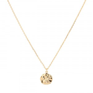 filao Chaine dorée à l'or fin avec jolie medaille dollar de sable