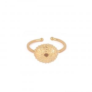 filao bague dorée à l'or fin 24 carats aux douces tonalités des Iles.