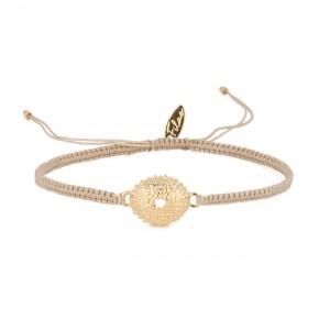filao bracelet grigri doré à l'or fin 24 carats aux douces tonalités des Iles.