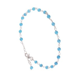Bracelet Argent 925 Pierre Véritable Turquoise Filao