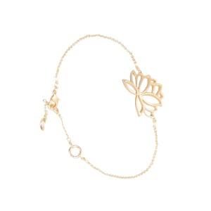 Bracelet Lotus Zen Dorée à l'or fin Filao