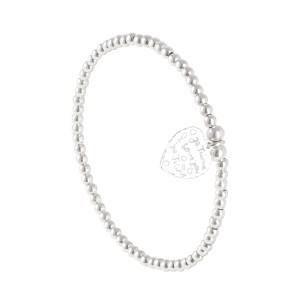 Bracelet Perles Argent Massif 925 Cœur Filao