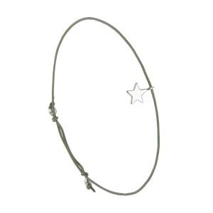 Bracelet Petite Étoile Kaki Arg 925 Filao