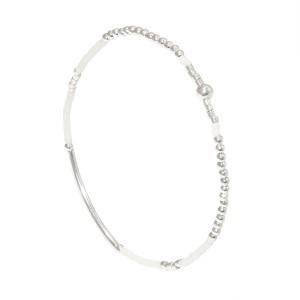 Bracelet Perles Argent Massif 925 Blanc Filao